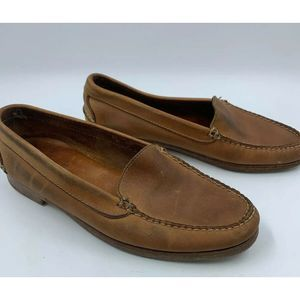 Polo Ralph Lauren 9.5 D Shoes Loafers Leather Tan